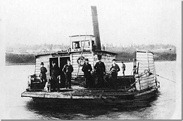 """""""K d K"""" or """"K de K"""" Fraser River Ferry - Brownsville to New Westminster BC"""