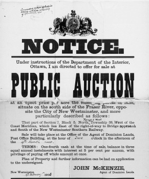 1905-03-04 Dominion land sale poster