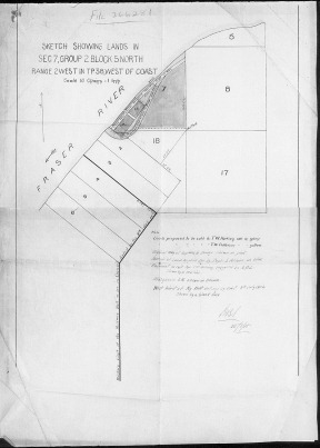 Lands proposed to be sold to TW Patersn 1905