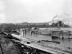 Pacific Coast Lumber Co and The Arena - Coal Harbour - 1925 - Vancouver Archives