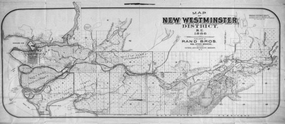 1886 Map of New Westminster District BC-