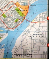 1958 ~ BA Oil Co map of South Westminster