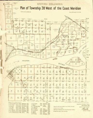 British Columbia - Plan of Township 38 West of Coast Meridian -1905