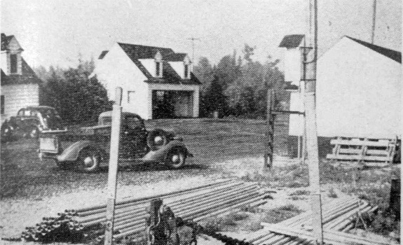 Green Timbers works yard 1947 - Hugh Weatherby photo